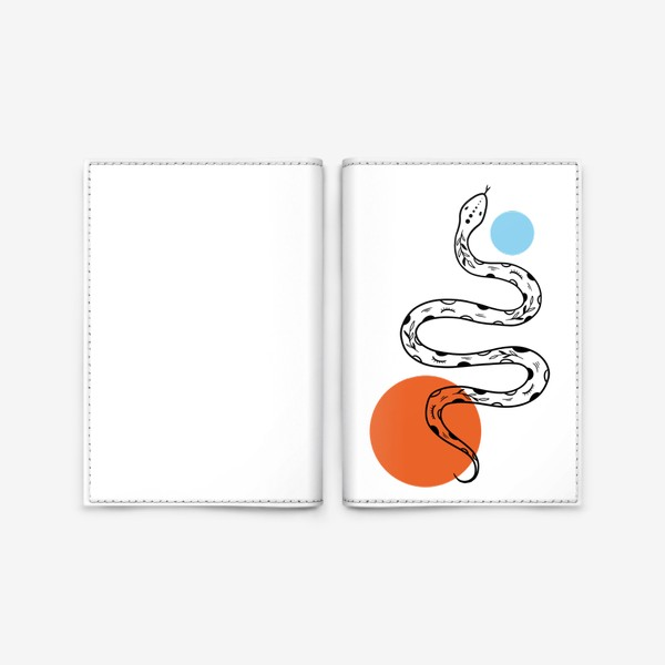 Обложка для паспорта «Змея абстракция»