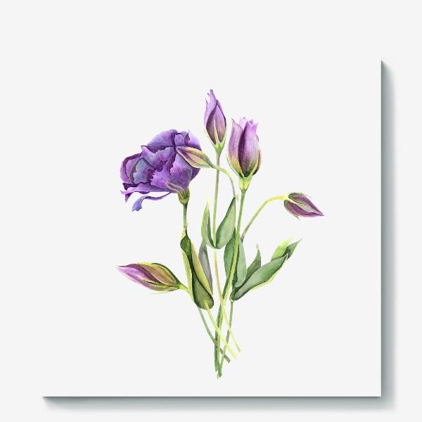 Холст «purple flowers»