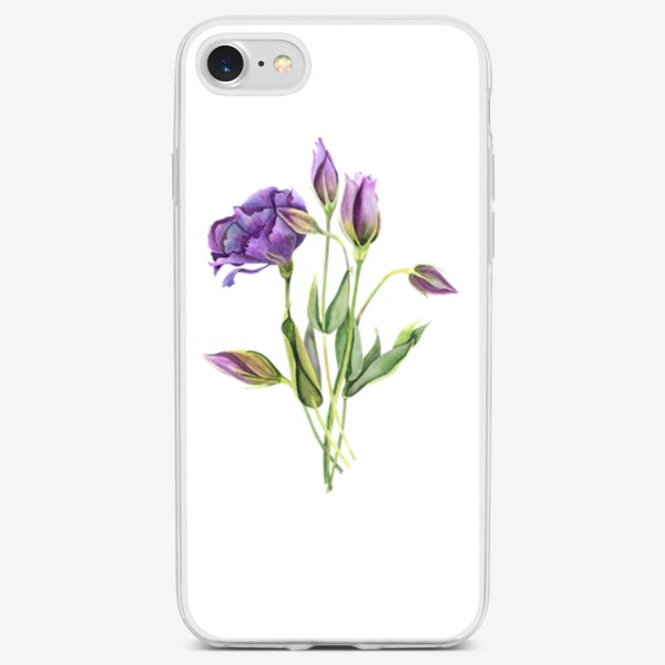 Чехол iPhone «purple flowers»