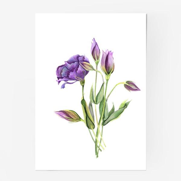 Постер «purple flowers»