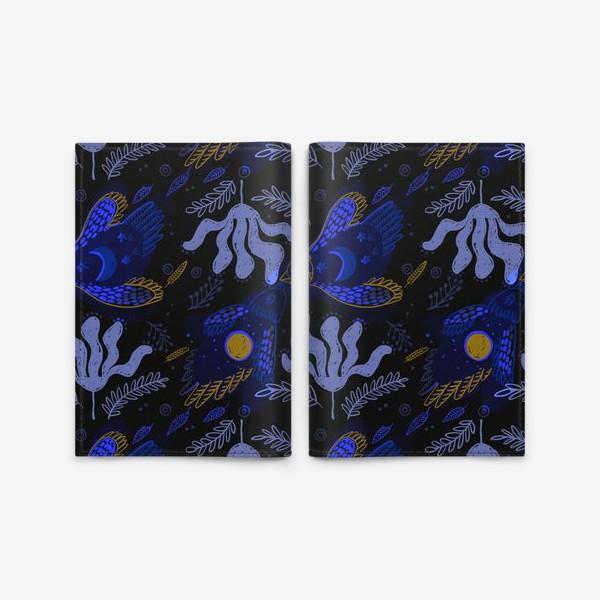 Обложка для паспорта «Ночь. Птицы»