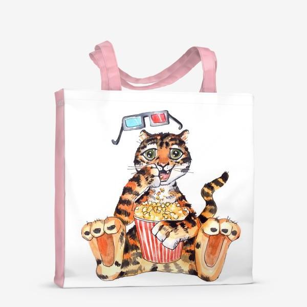 Сумка-шоппер «Тигр с попкорном»
