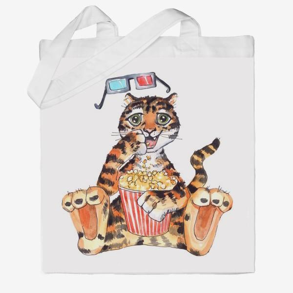 Сумка хб «Тигр с попкорном»