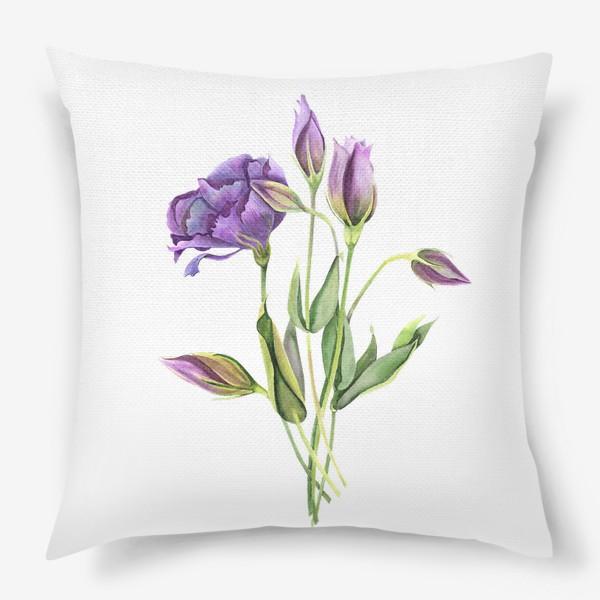 Подушка «purple flowers»