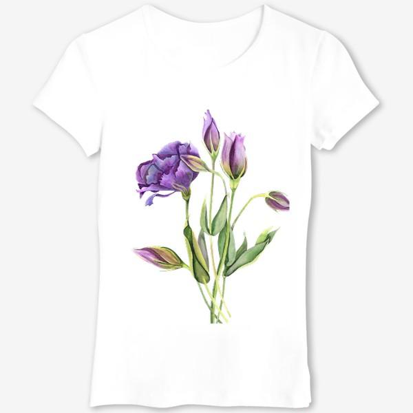 Футболка «purple flowers»