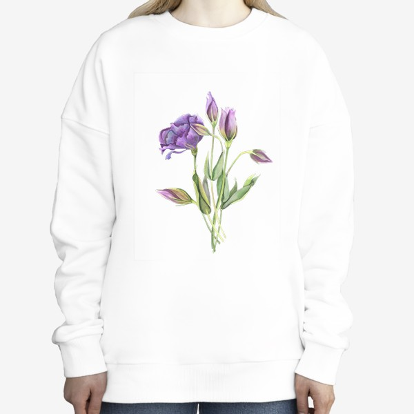 Свитшот «purple flowers»