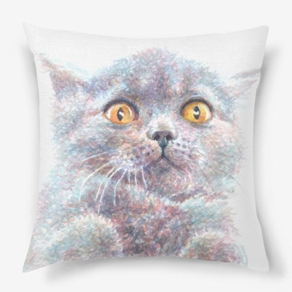 Подушка «Серый котик»
