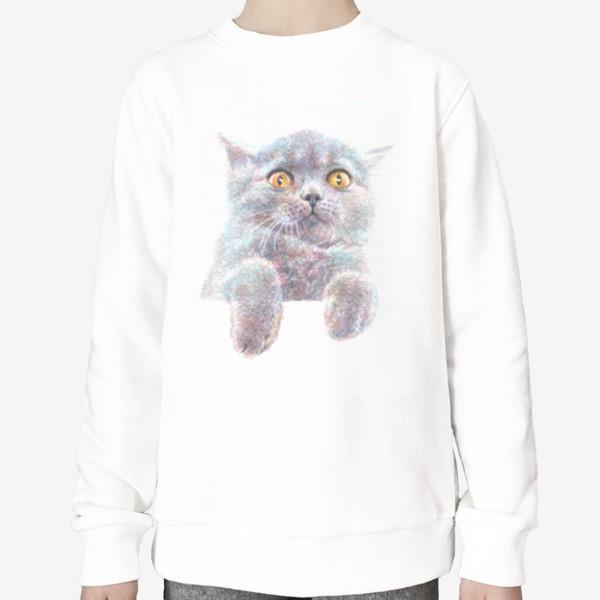 Свитшот «Серый котик»
