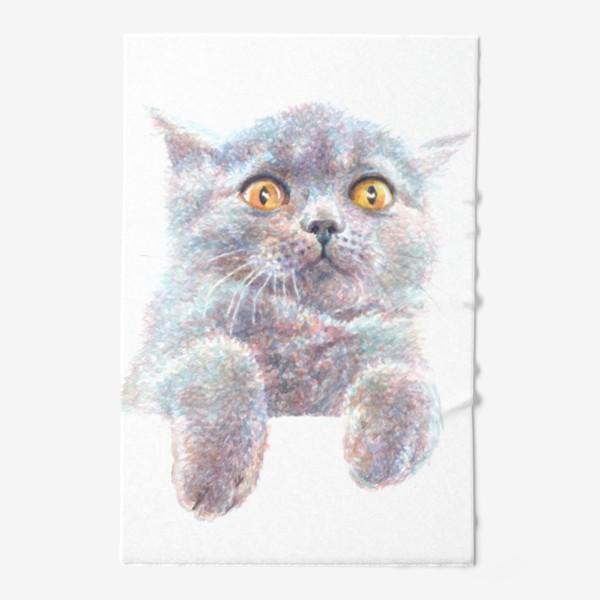 Полотенце «Серый котик»