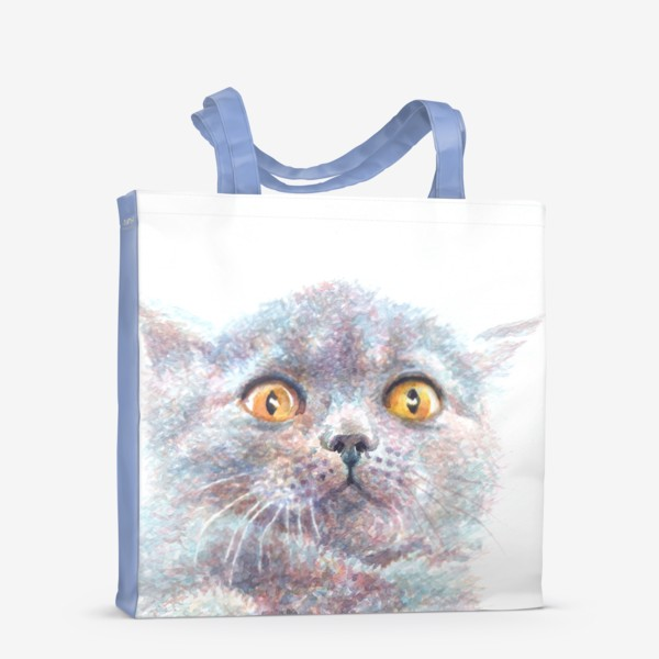 Сумка-шоппер «Серый котик»
