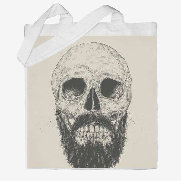 Сумка хб «The Beard Is Not Dead автор Balazs Solti»