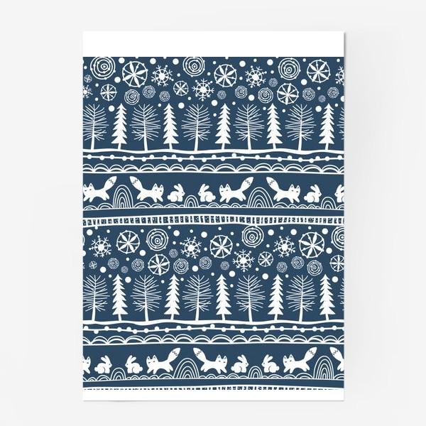 Постер «зимний лес»