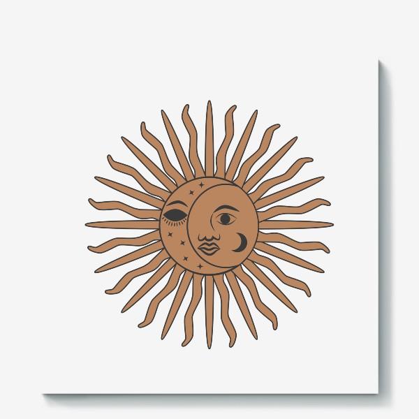 Холст «Магический символ солнце и луна»
