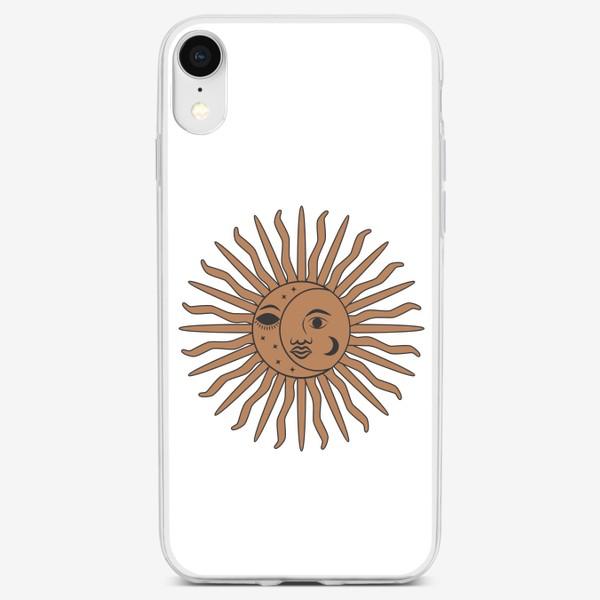 Чехол iPhone «Магический символ солнце и луна»