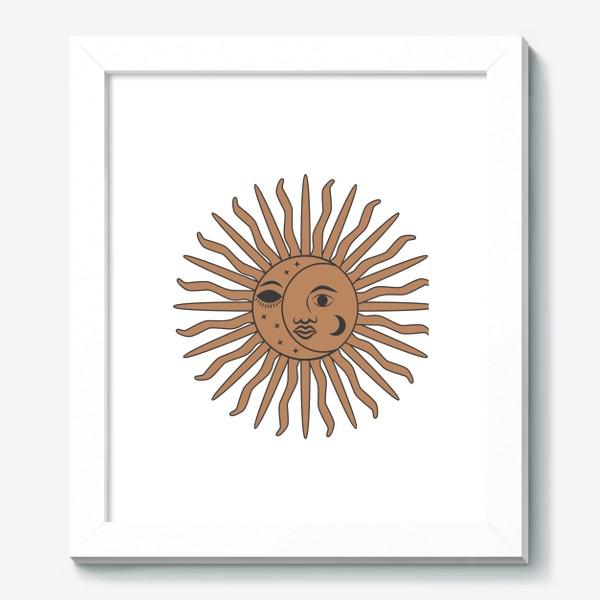 Картина «Магический символ солнце и луна»