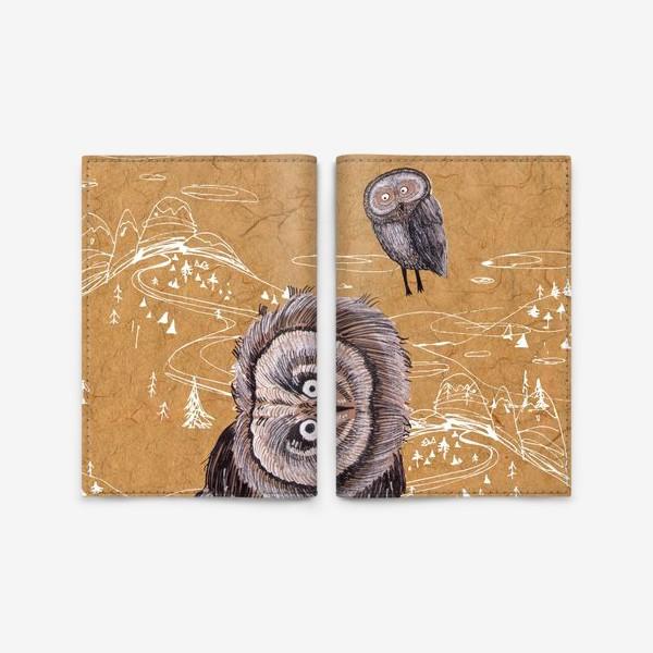 Обложка для паспорта «Удивленная сова»