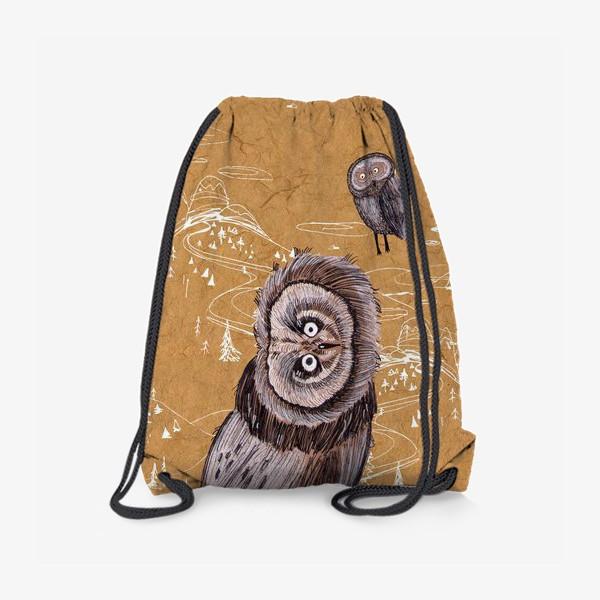 Рюкзак «Удивленная сова»