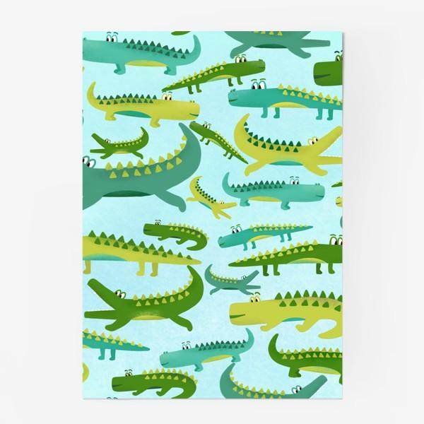 Постер «Крокодил крокодильчик паттерн детский»