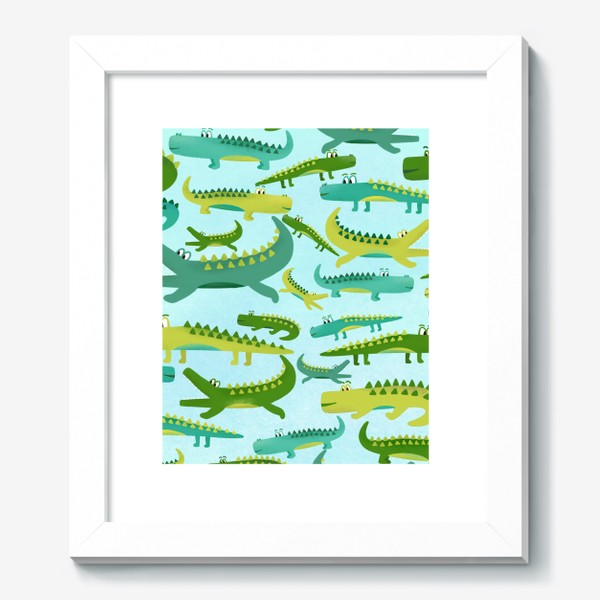 Картина «Крокодил крокодильчик паттерн детский»
