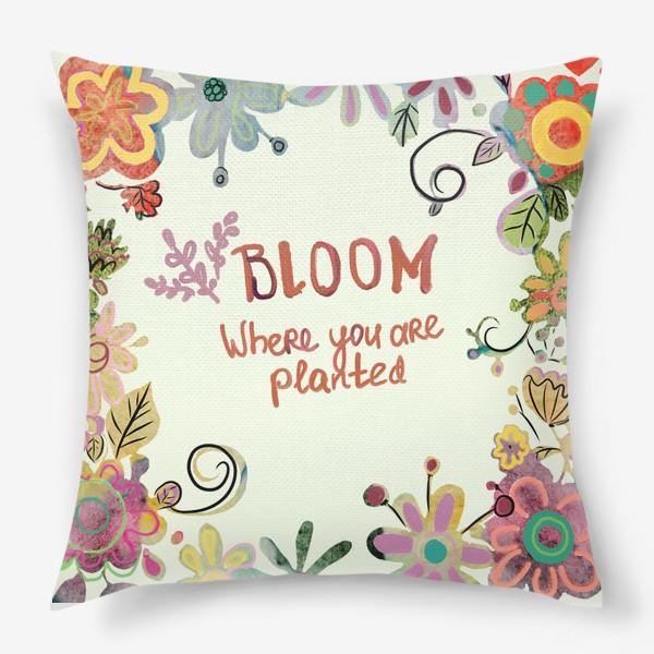 Подушка «Blooming»