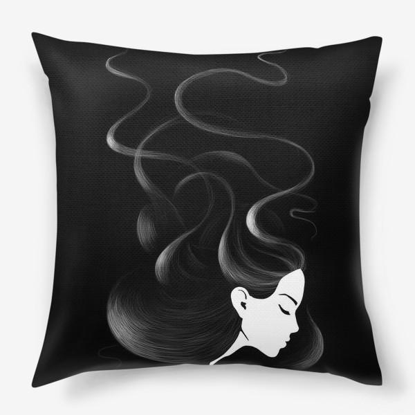 Подушка «Черные волосы»
