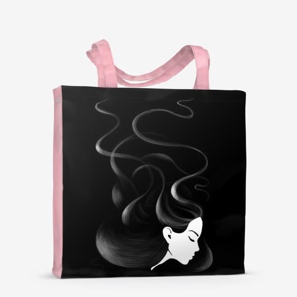 Сумка-шоппер «Черные волосы»