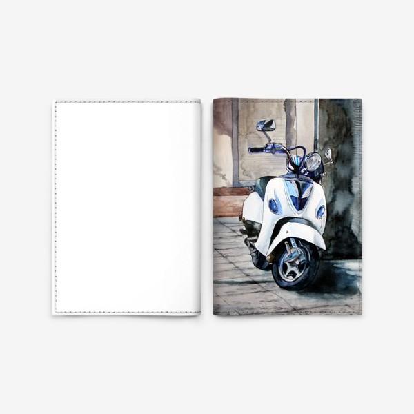Обложка для паспорта «Vespa. Мотороллер.»