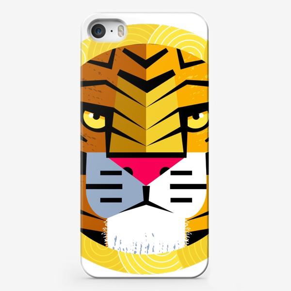 Чехол iPhone «Тигр в круглой рамке»