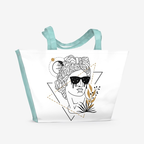 Пляжная сумка «Античная Статуя Давида Fashion Aesthetics »