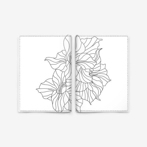 Обложка для паспорта «гладиолусы контурные»