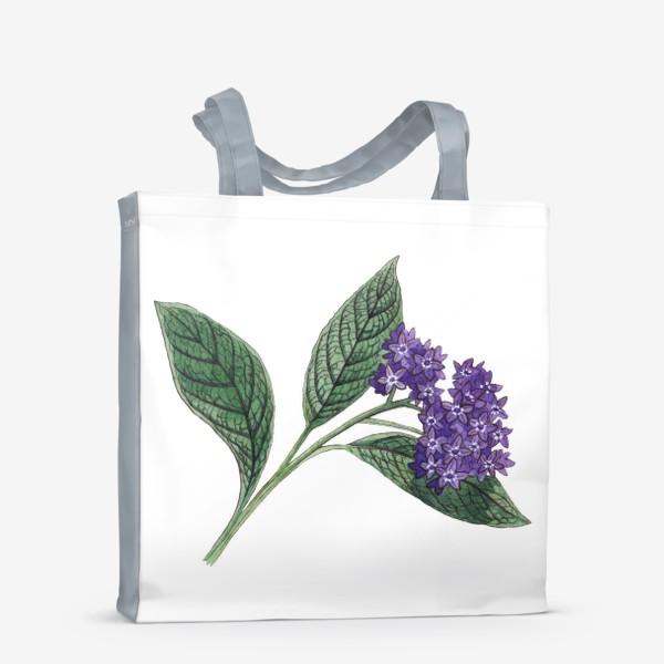 Сумка-шоппер «Ботаника. Веточка гелиотропа»