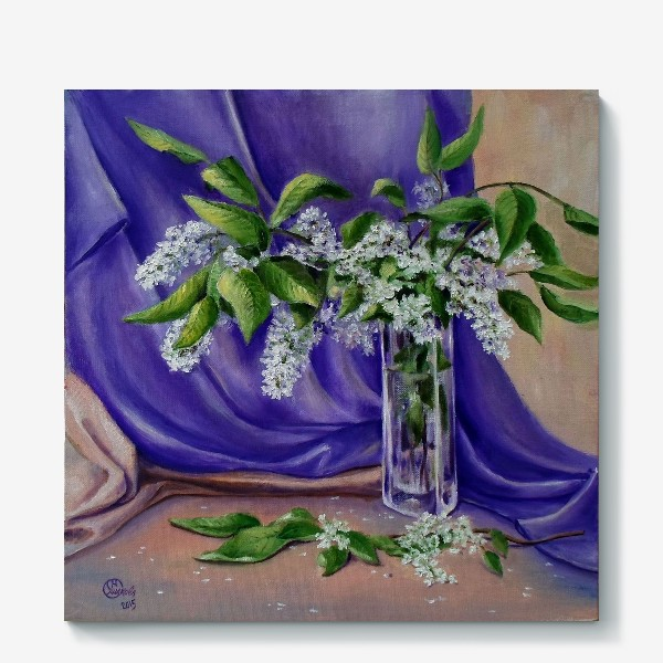 Холст «Цветет черемуха»