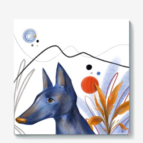Холст «Синий пес»