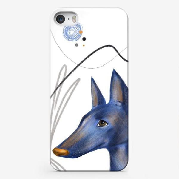 Чехол iPhone «Синий пес»