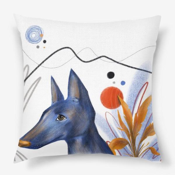 Подушка «Синий пес»