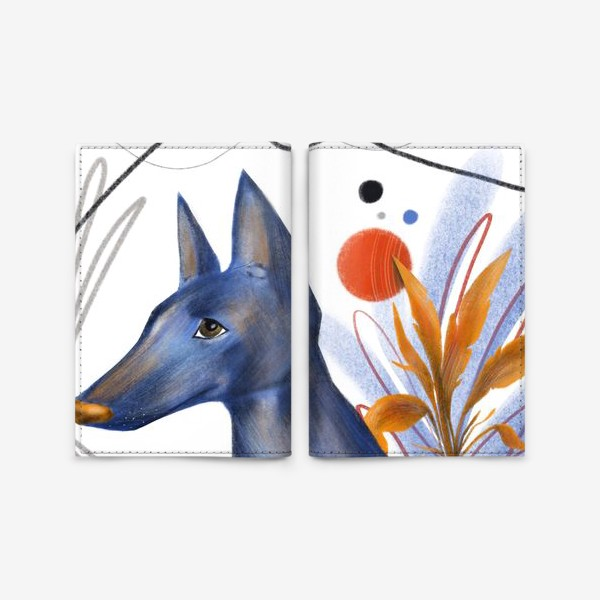 Обложка для паспорта «Синий пес»