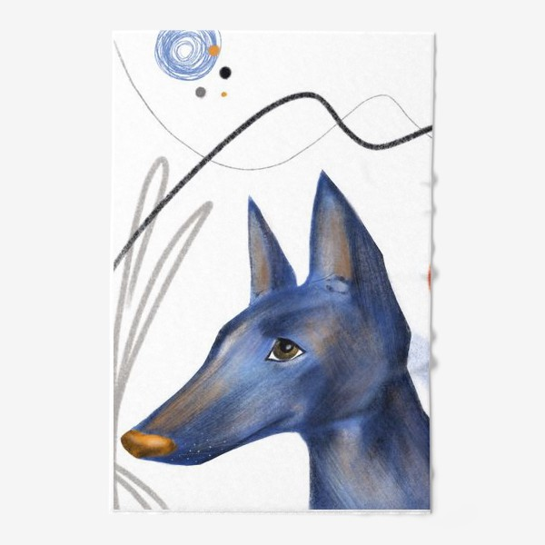 Полотенце «Синий пес»