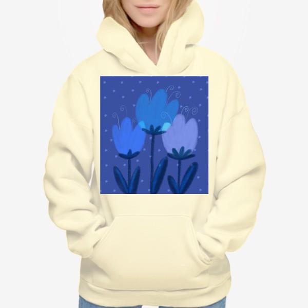 Худи «Синие тюльпаны»