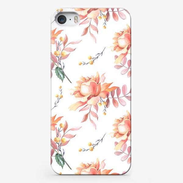 Чехол iPhone «Чайная роза с веточками»
