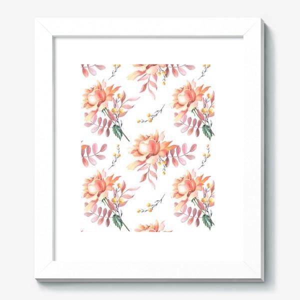 Картина «Чайная роза с веточками»