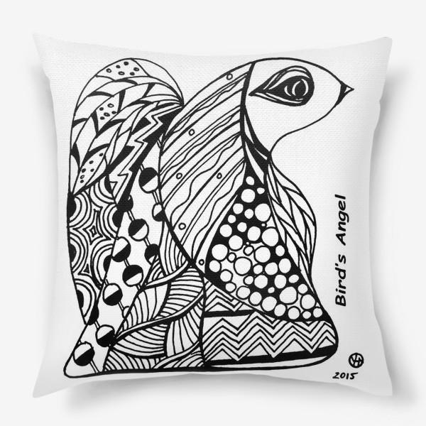 Подушка «Птичий Ангел»