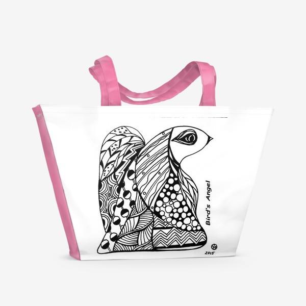 Пляжная сумка «Птичий Ангел»