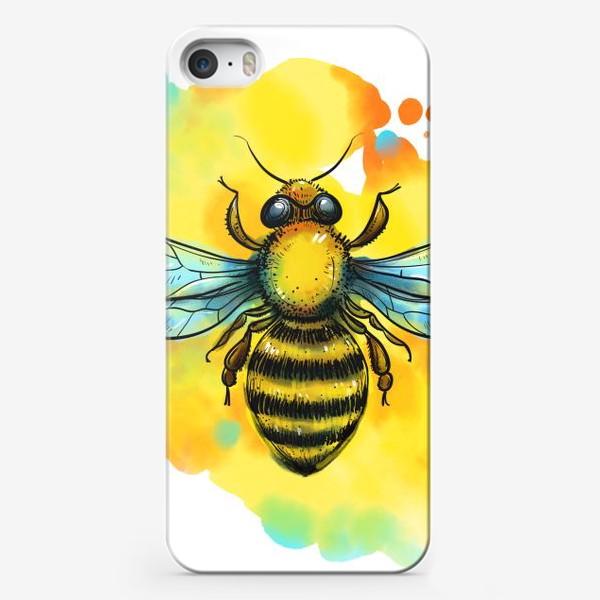 Чехол iPhone «пчела. акварельная пчелка»