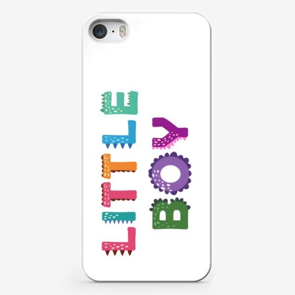 Чехол iPhone «Маленький мальчик. Яркая детская надпись»