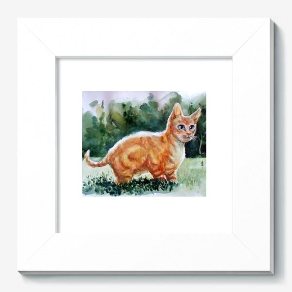 Картина «Рыжий котя на полянке»
