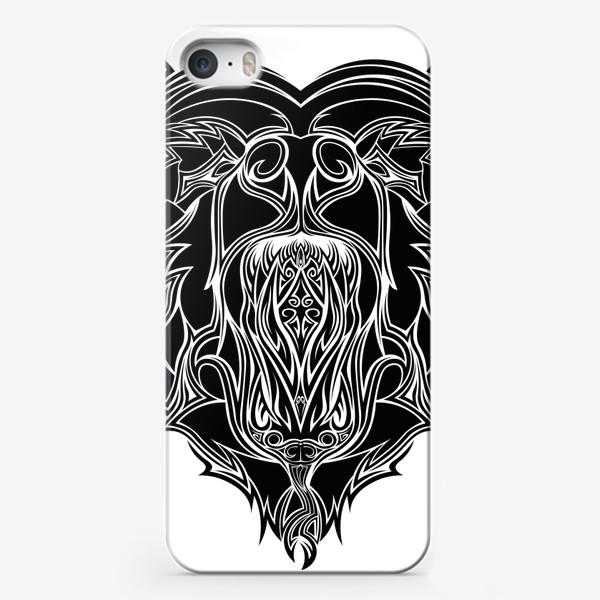 Чехол iPhone «Сердце но Медведь в котором Змея можно разглядеть»