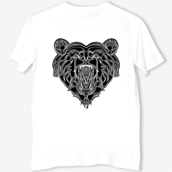 Футболка «Сердце но Медведь в котором Змея можно разглядеть»