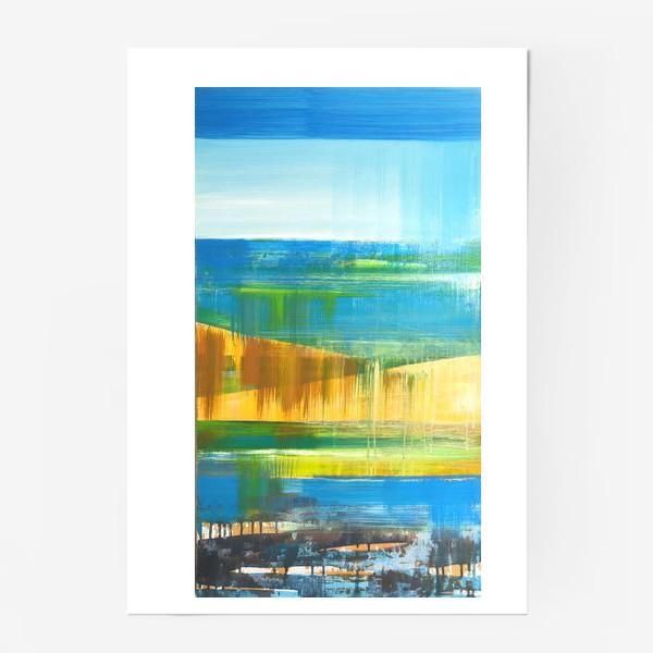 Постер «Летний пейзаж»