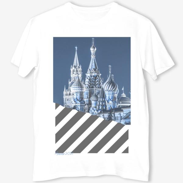 Футболка «Москва. Красная площадь. Синий»