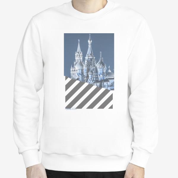 Свитшот «Москва. Красная площадь. Синий»